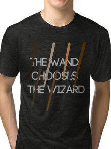 The Wand Chooses The Wizard Tri-blend T-Shirt
