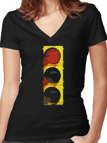 stop Women's Fitted V-Neck T-Shirt