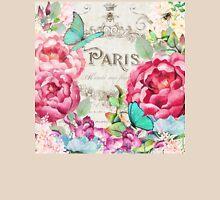 Paris Flower Market II roses, flowers, floral butterflies Womens Fitted T-Shirt