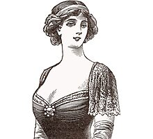 Beautiful Belle Epoque Lady Photographic Print
