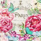 Paris Flower Market II roses, flowers, floral butterflies by Glimmersmith