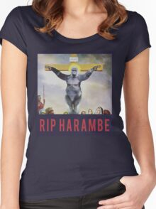 RIP Harambe - Son of God Women's Fitted Scoop T-Shirt