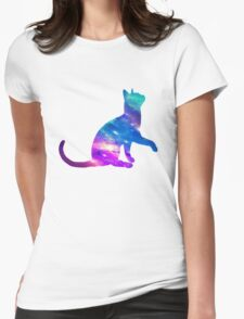 Cat Galaxy Womens Fitted T-Shirt