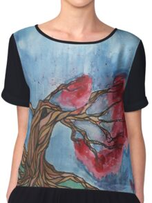 Cherry tree Chiffon Top