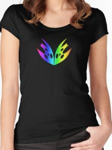 MLP - Cutie Mark Rainbow Special – Queen Chrysalis V3 Women's Fitted Scoop T-Shirt