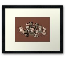 We Aim to Misbehave Framed Print