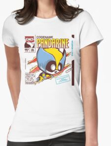 Pandarine Comic Book Cover Womens Fitted T-Shirt