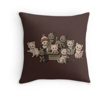 We Aim to Misbehave Throw Pillow