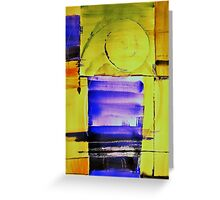 Abstract View on the sea Greeting Card