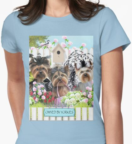 Owned by Yorkies ByCatiaCho Womens Fitted T-Shirt