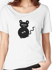 Cute Mischievous Mouse Women's Relaxed Fit T-Shirt