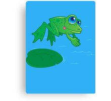 Diving Frog Canvas Print