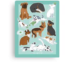 UnTough Dogs | Look Tough, Be Soft | Doberman Mastiff Great Dane German Shepherd Staffordshire Terrier Rottweiler Boxer Bull Terrier Bulldog Pit Bull No BSL Canvas Print