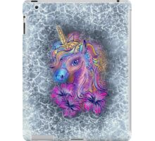 Unicorn, fantasy, magic, magical, rainbow, color, horse, lily, flowers, pony iPad Case/Skin