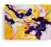 Abstract Purple Rose Canvas Print