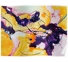 Abstract Purple Rose Poster