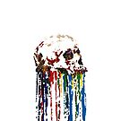 Melting Color Skull by Roesbery