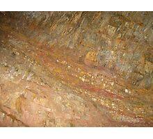 Rockface, Geevor Tin Mine Photographic Print