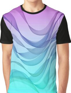 wavy,abstract,pattern,turquoise,lavender,blue,aquamarine,purple Graphic T-Shirt