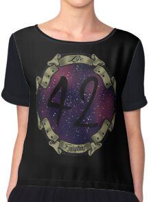 42 IS THE ANSWER ! Chiffon Top