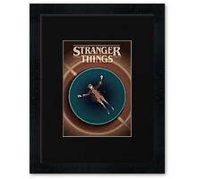 Stranger Things Eleven in the Pool Framed Print