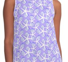 Purple and Blue Scallop Shells with White Starfish Contrast Tank