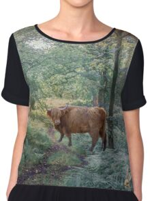 Rush Hour in the Forest Chiffon Top