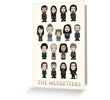 The Musketeers cast (poster/card/notebook) Greeting Card