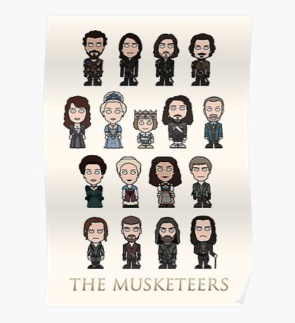 The Musketeers cast (poster/card/notebook) Poster