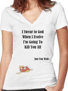 Magikarp Quote Version 2 Women's Fitted V-Neck T-Shirt