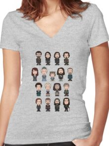 The Musketeers: The Whole Cast (shirt) Women's Fitted V-Neck T-Shirt