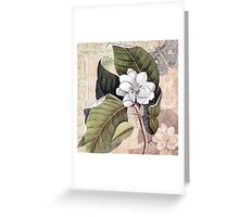 Antique Magnolia Collage Greeting Card