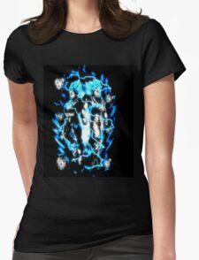 Goku & Vegeta Super Saiyan GoD/Blue Womens Fitted T-Shirt
