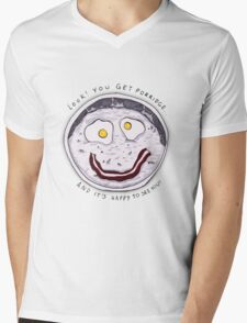 You get Porridge, and it's Happy to See You! Mens V-Neck T-Shirt