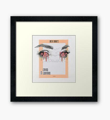 Crying Lighting Arctic Monkeys Fan Poster Framed Print