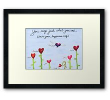 Happiness Crop Framed Print