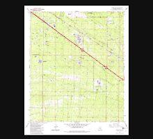 USGS TOPO Map Arizona AZ Tucson SE 313837 1982 24000 Unisex T-Shirt