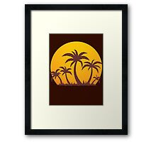 Palm Trees and Sun Framed Print