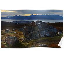 From the summit crest of the Bealach Na Ba  Poster
