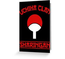 Uchiha Clan Greeting Card