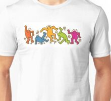 Keith Haring Dancing Figures art Unisex T-Shirt