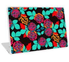 Black and Red Carnation Garden  Laptop Skin
