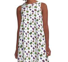 Mixed Butterflies A-Line Dress