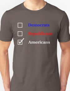 Election Ballot - Americans for Dark T's T-Shirt
