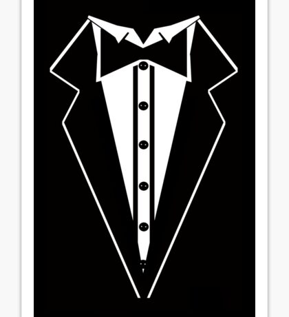 Suit and Bow Tie Sticker
