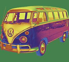 Classic VW 21 window Mini Bus Pop Art Image by KWJphotoart