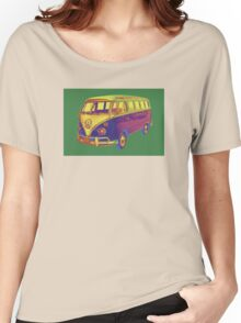 Classic VW 21 window Mini Bus Pop Art Image Women's Relaxed Fit T-Shirt
