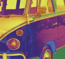 Classic VW 21 window Mini Bus Pop Art Image Sticker