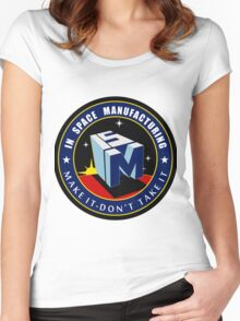 """The NASA """"In Space Manufacturing"""" Logo Women's Fitted Scoop T-Shirt"""
