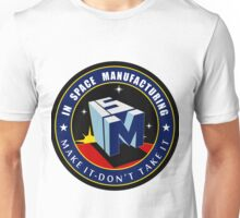 """The NASA """"In Space Manufacturing"""" Logo Unisex T-Shirt"""